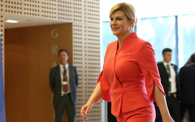 Croatian President Kolinda Grabar-Kitarović.