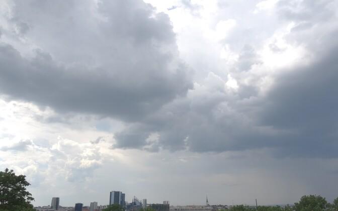 Storm clouds over Tallinn.