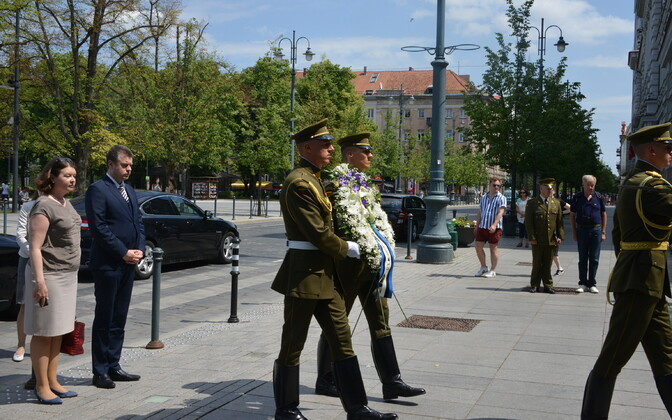 Minister of Foreign Affairs Urmas Reinsalu (Isamaa) commemorated the victims of the 1941 June deportation in Vilnius on Friday. June 14, 2019.