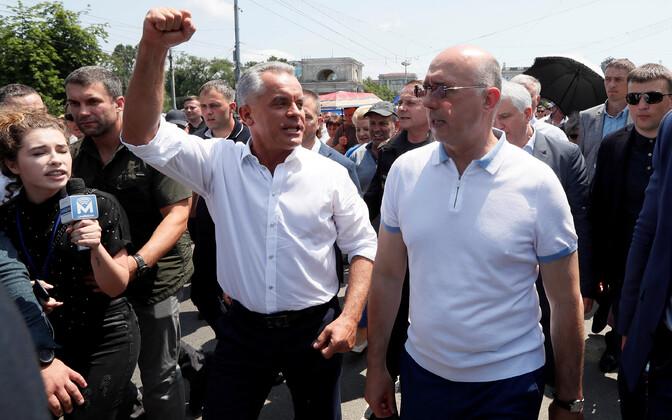 Moldova Demokraatliku Partei liidrid Pavel Filip ja Vladimir Plahotniuc.