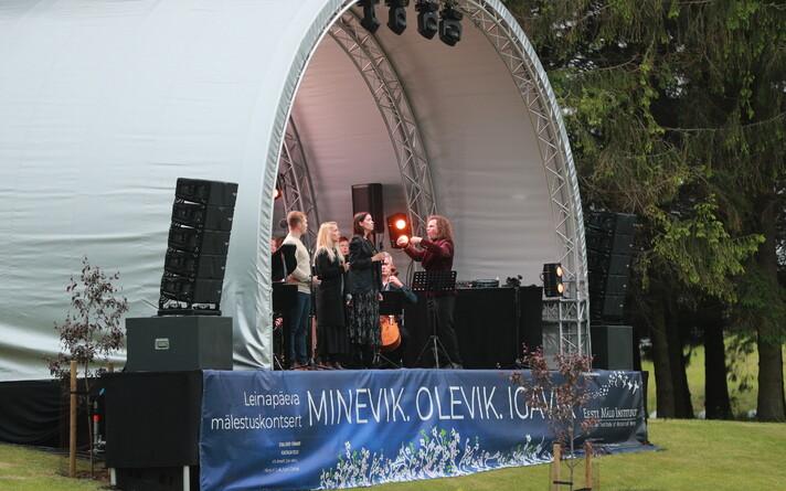 на мемориале Маарьямьяги прошел концерт в память о жертвах июньской депортации.