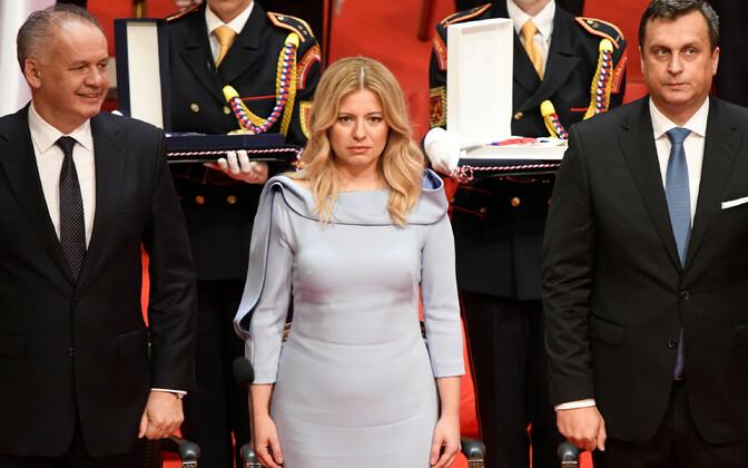 Зузана Чапутова на церемонии инаугурации.