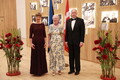 President Kersti Kaljulaid hosted a gala dinner at the Arvo Pärt Centre in Laulasmaa in honor of the visiting Queen Margrethe II of Denmark.