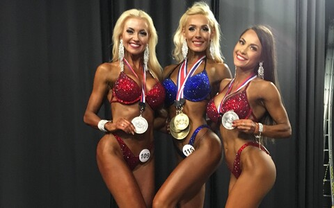 The weekend's fitness and bodybuilding Estonian medallists (from left): Jana Teder, Regina Krukovskaya and Tuuli Jürgens.