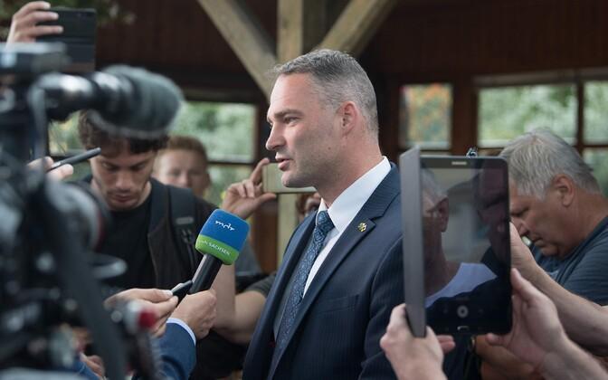 Alternatiiv Saksamaale (AfD) Görlitzi linnapeakandidaat Sebastian Wippel.