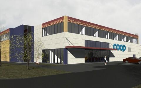 Эскизный проект торгового центра в Нарва-Йыэсуу.