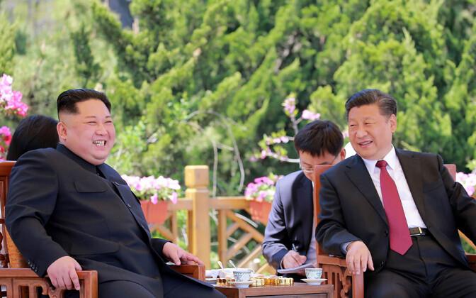 Kim Jong-un ja Xi Jinping 2018. aasta mais Hiinas.
