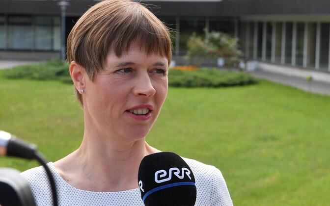 President Kersti Kaljulaid in Ida-Viru County, June 2019.