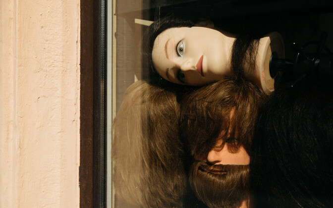 Salon window.