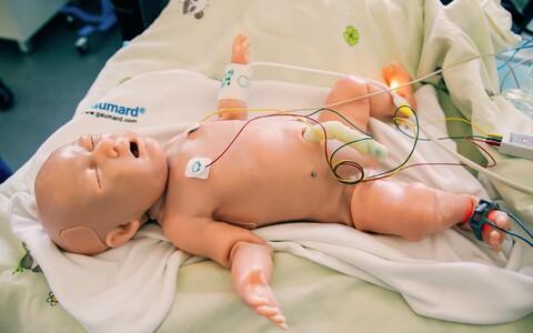 По словам члена совета Фонда поддержки родильных домов Андреса Суття, такой симулятор стоит, как новая машина премиум-класса.