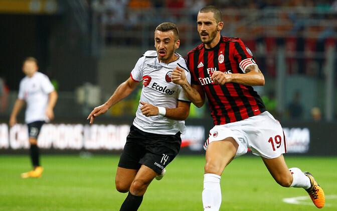 Jalgpalli Euroopa liiga kohtumine KF Shkendija - AC Milan