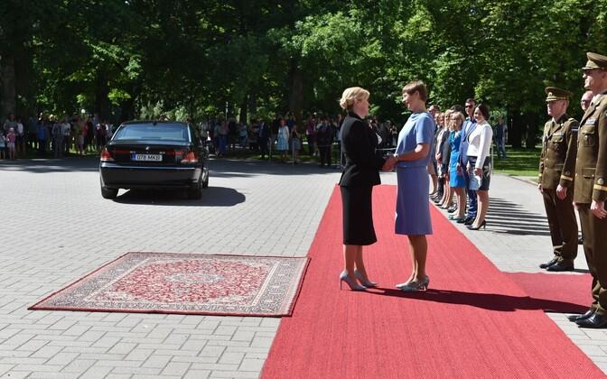 Президент Керсти Кальюлайд встретилась с президентом Хорватии Колиндой Грабар-Китарович.