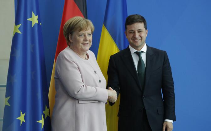 Merkel ja Zelenski teisipäeval Berliinis.
