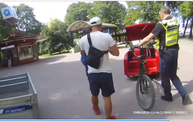 Mupo inspection of bicycle rickshaw on Wednesday.