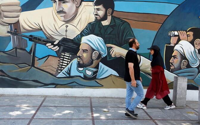 Iraani pealinna Teherani tänav.