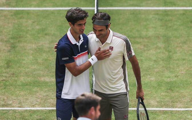 Roger Federer ja Pierre-Hugues Herbert
