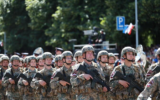 В этом году парад в честь Дня победы прошел в Тарту.