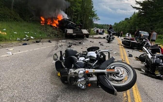 Õnnetuspaik Route 2-l Randolphis.