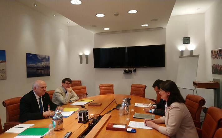 Март Ярвик встретился с украинской делегацией.
