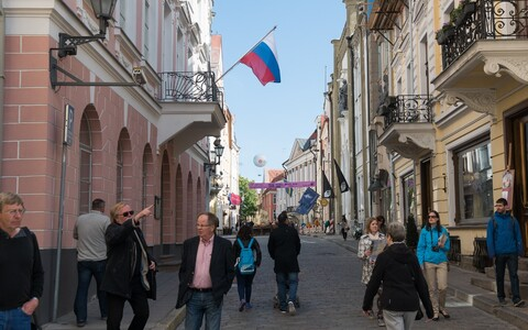 Russian embassy on Pikk Street in Tallinn's Old Town.