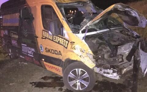 Cycling Tartu buss sattus Poolas liiklusõnnetusse.
