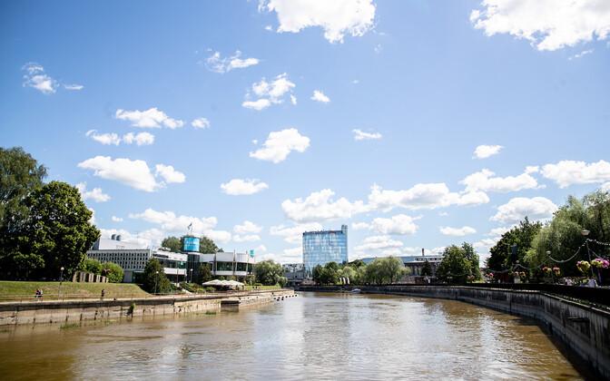 View overlooking the Emajõgi River in Tartu.