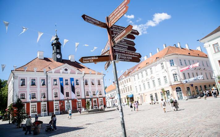 Ратушная площадь в Тарту. Иллюстративная фотография.