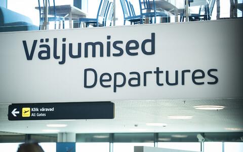 At Tallinn Airport.