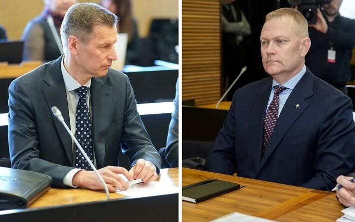 Бывший командующий ВВС Финляндии Сампо Эскелинен (справа) и бывший командир Карельской авиационной группы Маркус Пяйвио.