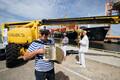 Судно Finbo Cargo компании Eckerö Line 25 июня отправилось 25 июня в свой первый рейс из порта Вуосаари в Мууга.