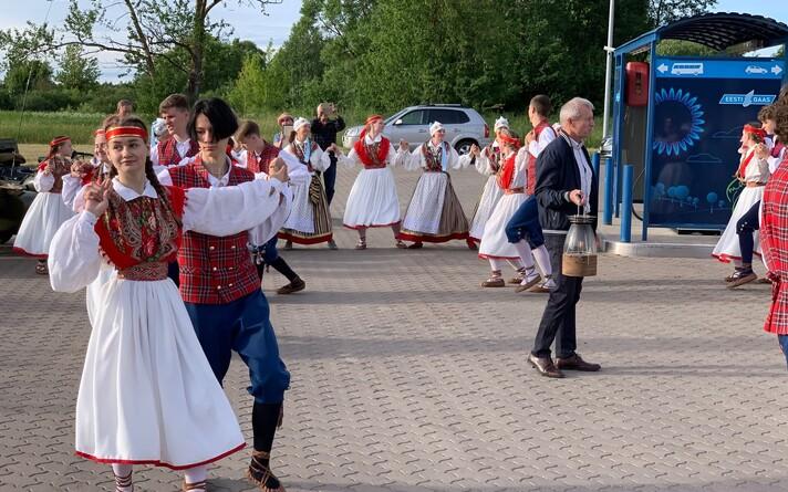Огонь Певческого праздника прибыл в Нарву