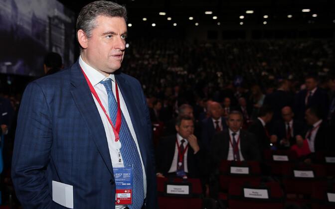 Venemaa riigiduuma väliskomisjoni esimees Leonid Slutski.