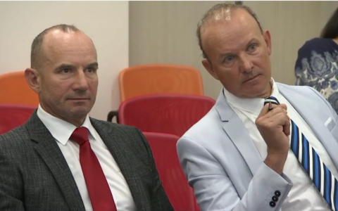 Andres and Oleg Sõnajalg, the two brothers behind the Aidu wind farm development.