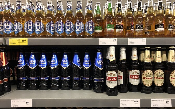 Beer prices in stores ahead of the July alcohol excise duty cut. July 2019.