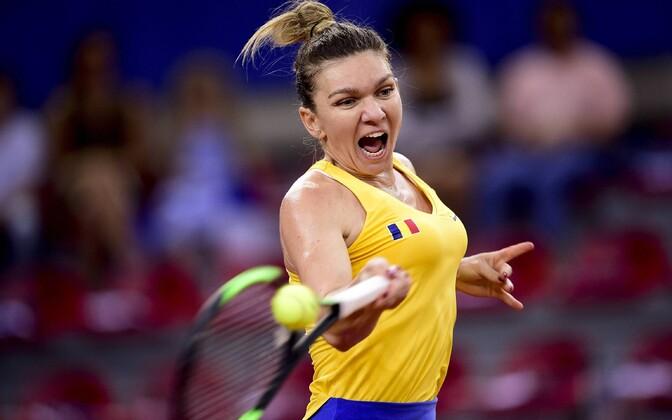 Simona Halep Fed Cupil Rumeeniat esindamas