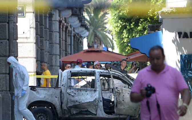Terroriakti sündmuskoht Tunises 27. juunil.