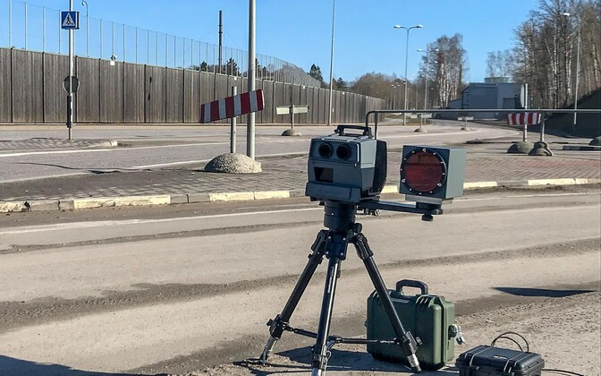 Mobile speed camera in action recently on Filtri Street in Tallinn.