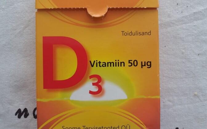 OÜ Soome Tervisetooted müüdav D-vitamiin, mille pakkumistest on keeruline loobuda.