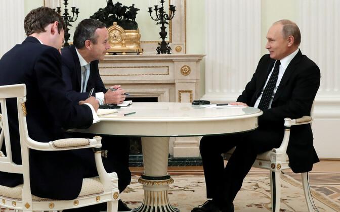 Vladimir Putin Financial Timesi ajakirjanikega.