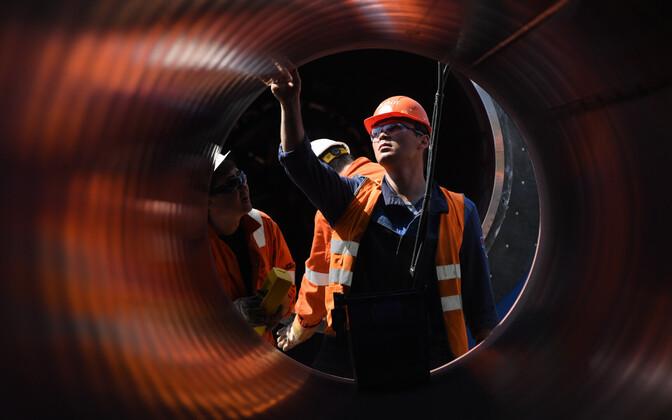 Nord Stream 2 detailide ettevalmistamine Leningradi oblastis.