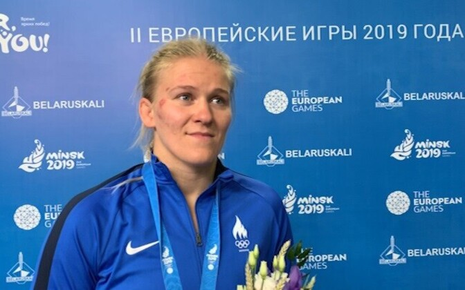 Epp Mäe after winning her bronze in Minsk on Friday.