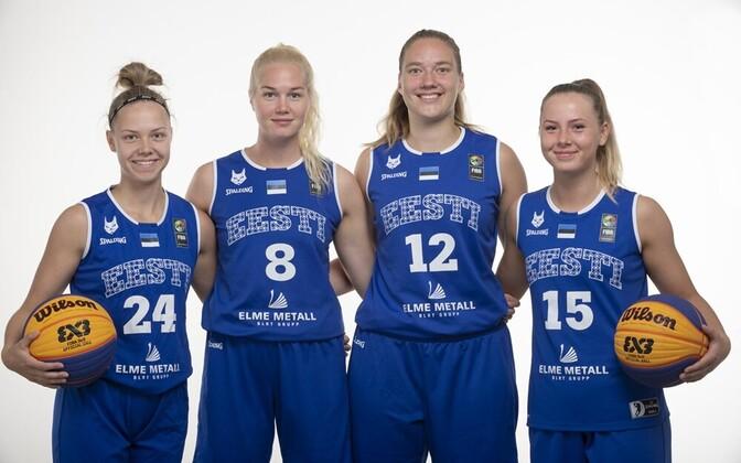 Eesti 3x3 naiskond koosseisus Annika Köster, Kadri-Ann Lass, Janne Pulk ja Johanna Eliise Teder.