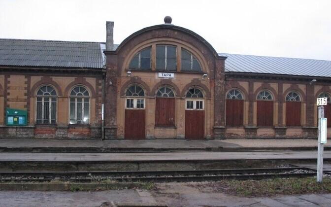 Здание ж/д вокзала в Тапа.