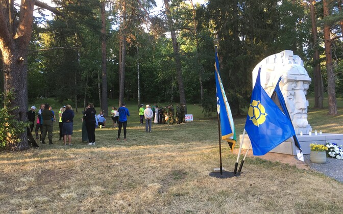 Reinhold Sabolotnõile pühendatud orienteerumisvõistluse stardipaik.