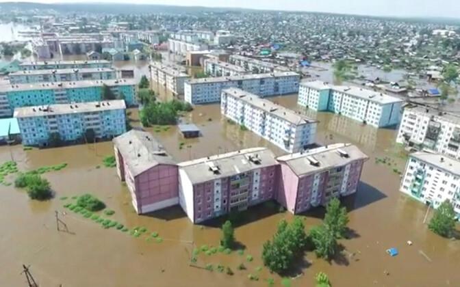 Tuluni linn Irkutski oblastis 29. juunil.