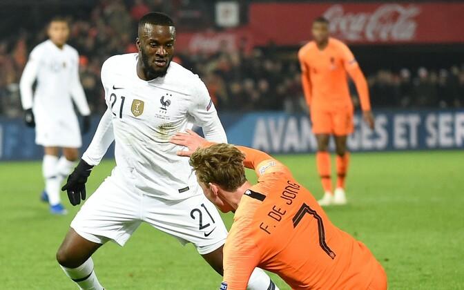 Tanguy Ndombele Prantsusmaa koondise mängus Hollandi vastu