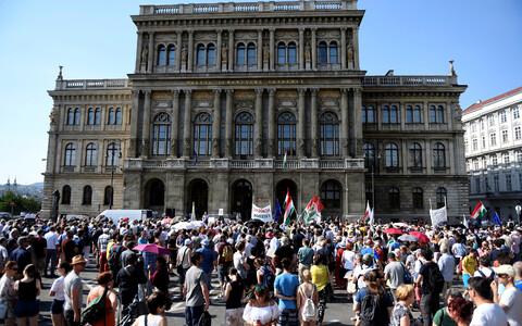 Meeleavaldajad Budapestis.