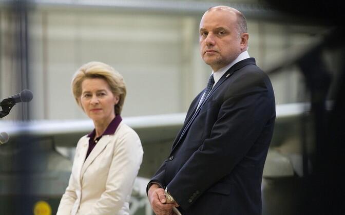 Ursula von der Leyen ja Jüri Luik 5. veebruaril Ämaris.