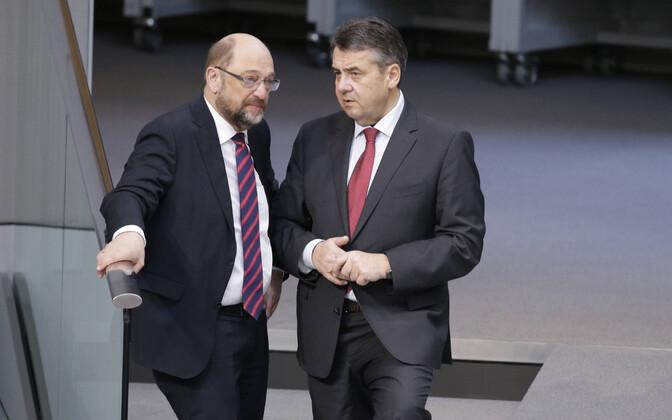Saksamaa sotsiaaldemokraatide endised juhid Martin Schulz ja Sigmar Gabriel.