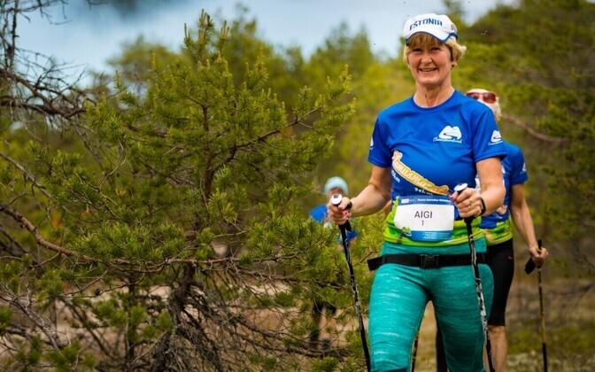 Osalejad Lahemaa kepikõnni- ja käimismaratonil